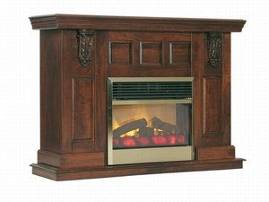 Amish Legacy Mantel Electric Fireplace with Insert