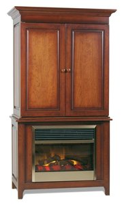 Amish Lancaster Fireplace Entertainment Center