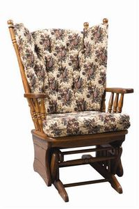 Amish High Back Glider With Optional Ottoman