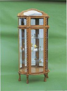 Amish Bonnet Top Curio Cabinet