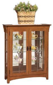 Mission Curio Cabinet Bookcase
