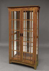 Amish Mission Double Door Curio Cabinet