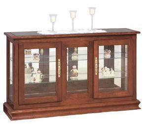 Amish Large Console Curio Display Case