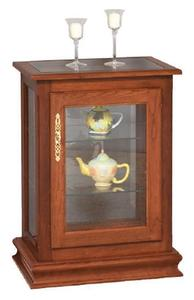 Amish Console Curio Display Case End Table