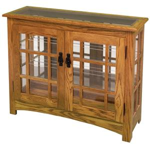 Amish Mission Style Small Console Curio Cabinet