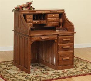 "42"" Traditional Amish Roll Top Desk"