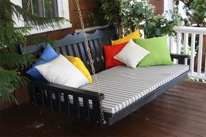 Amish Pine Wood Royal English Swing Bed