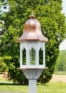 Amish-Made Small Gazebo Style Poly Bird Feeder