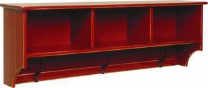 """Amish Pine Wood Shelf With Coat Hooks 50"""""""
