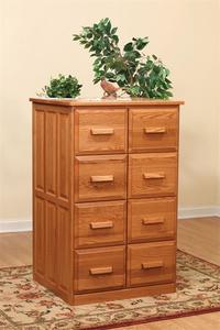 Amish Double Vertical File Cabinet