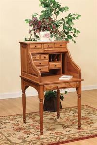 Amish Secretary Roll Top Desk