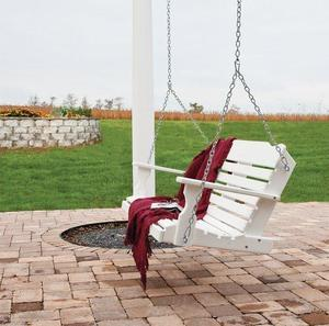 Amish Leisure Lawns Westchester Recycled Poly Porch Swing