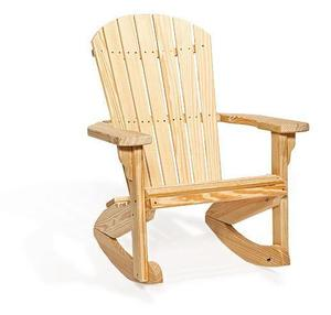 Amish Pine Wood Fan Back Rocking Chair