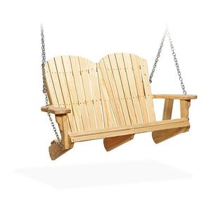 Amish Pine Wood Fan Back Swing