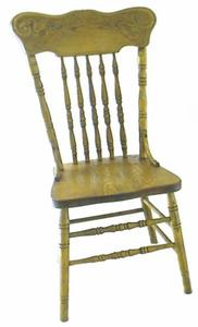 Amish Oak Pressed Back Dining Chair