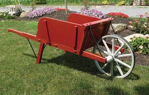 Amish Wooden Wheelbarrow - Medium Rustic