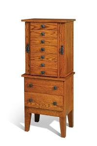 Amish Made Mission Jewelry Armoire
