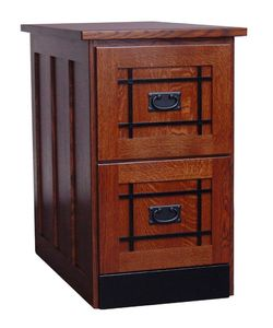 Amish Mission Two Drawer File Cabinet