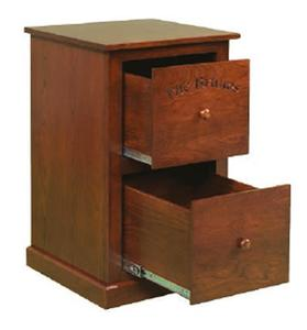Amish Flush Two Drawer Mission File Cabinet