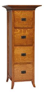 Amish Mt. Eaton Mission Four Drawer File Cabinet