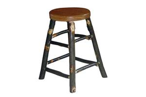 Amish Blue Mountain Rustic Hickory Bar Stool