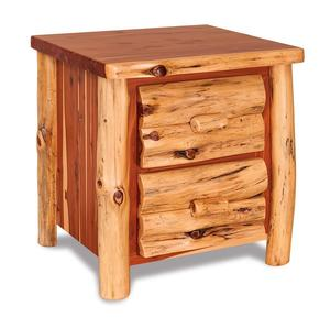 Amish Rustic Red Cedar Log Night Stand