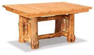 Amish Log Base Extension Dining Table
