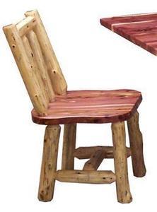 Amish Cedar Log Side Dining Chairs
