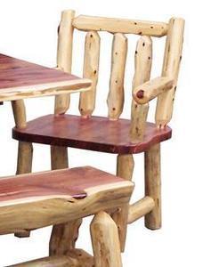Amish Cedar Log Arm Chairs