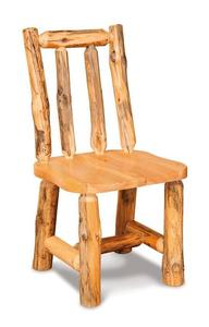 Amish Rustic Pine Log Side Chair