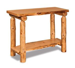 Amish Log Furniture Pine Sofa Table