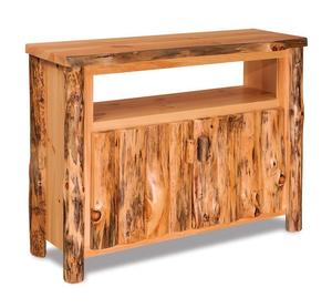 Amish Pine Log Furniture TV Stand