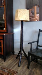 Amish Noble Rustic Hickory Floor Lamp Only (Shade Not Included)