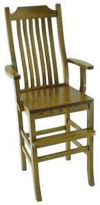 Amish Oak Wood Mission Youth Chair