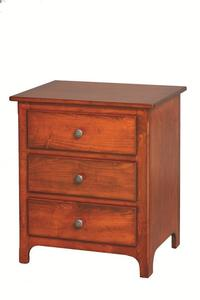 Amish Plymouth 3-Drawer Night Stand
