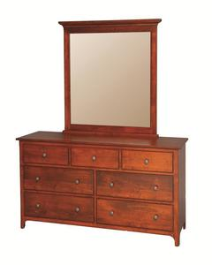 """Amish Plymouth Dresser with Optional Mirror -- 32"""" High"""