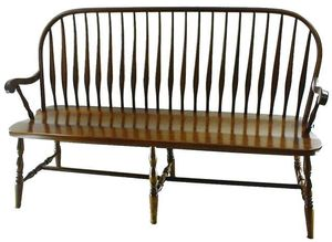 Amish Bent Feather Windsor Bench