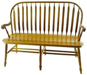 De Bent Windsor Bench From Dutchcrafters Amish Furniture