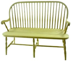 Amish Round Spindle Windsor Bench