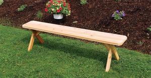 Amish Cedar Wood Crossleg Outdoor Bench