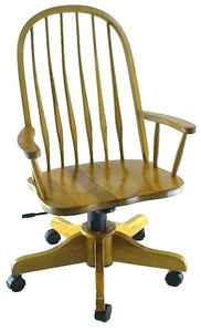 Amish Deluxe Bent Feather Windsor Desk Chair