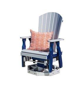 Amish Fan-Back Poly Swivel Glider Chair