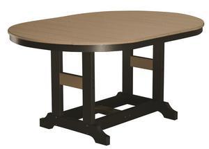 """Berlin Gardens 44"""" x 64"""" Garden Classic Oblong Poly Counter Table"""