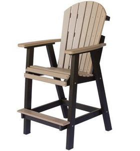 Berlin Gardens Comfo-Back Outdoor Poly Counter Chair
