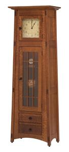 Amish Mission Clock Cabinet