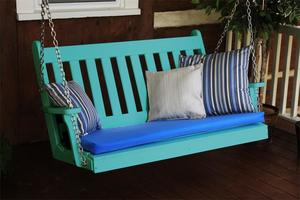 Amish Poly Traditional English Porch Swing