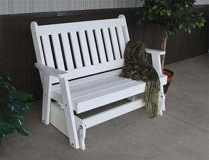 Amish Traditional English Poly Gliding Bench