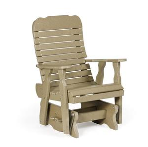 Amish Leisure Lawns Single Poly Easy Glider Chair