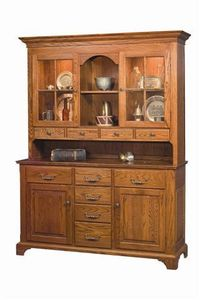 Amish Kittrell Hutch with Bracket Foot