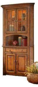 Amish Galloway Shaker 2-Door Corner Hutch